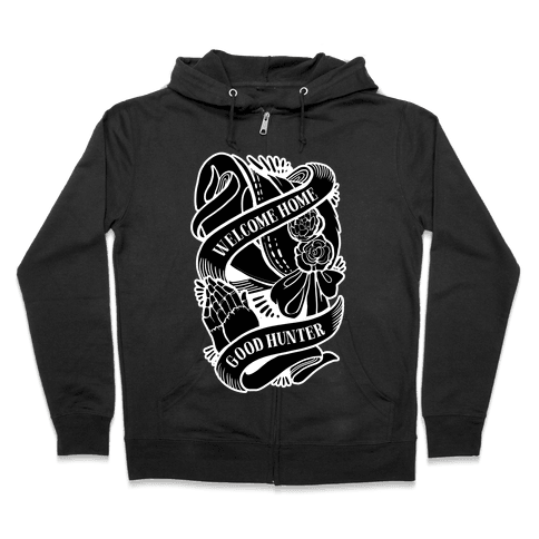 Welcome Home Good Hunter Zip Hoodie