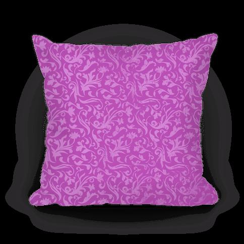 Purple Medieval Flower Pattern