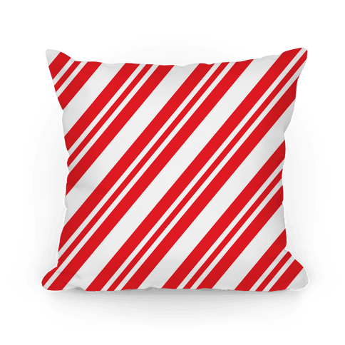 Candy Cane Stripe Pattern Pillow