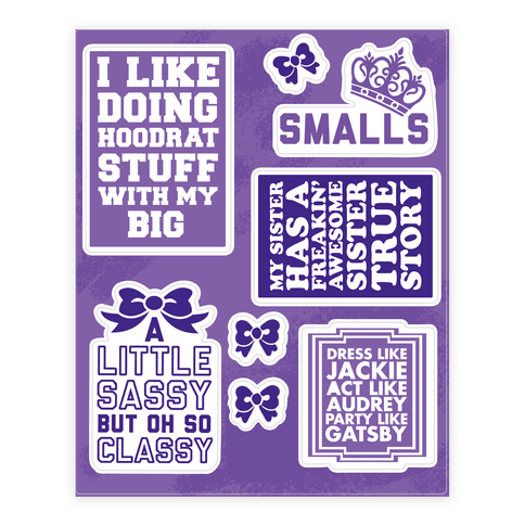 I Love My Big Sorority  Sticker/Decal Sheet