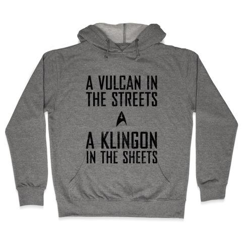 A Vulcan In The Streets (Vintage) Hooded Sweatshirt