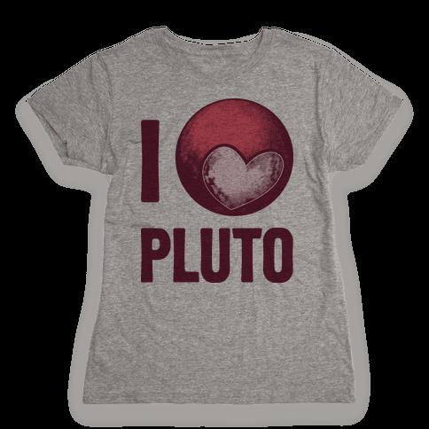 I Heart Pluto Womens T-Shirt
