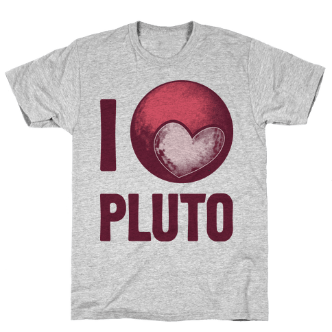 I Heart Pluto Mens T-Shirt
