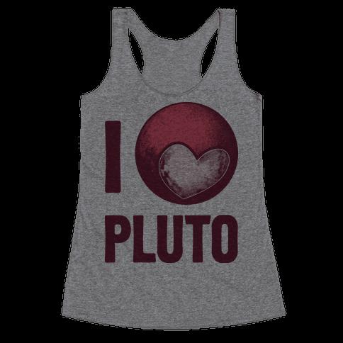 I Heart Pluto Racerback Tank Top