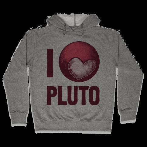 I Heart Pluto Hooded Sweatshirt