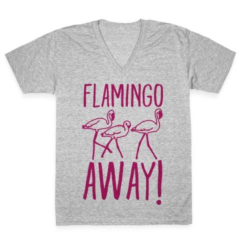 Flamingo Away V-Neck Tee Shirt
