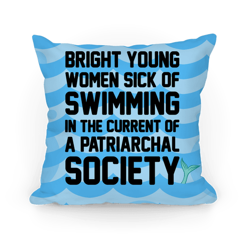 Feminist Mermaid Pillow