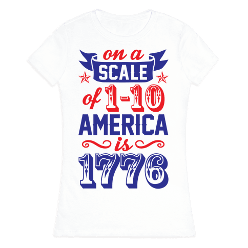 America Is 1776 Womens T-Shirt