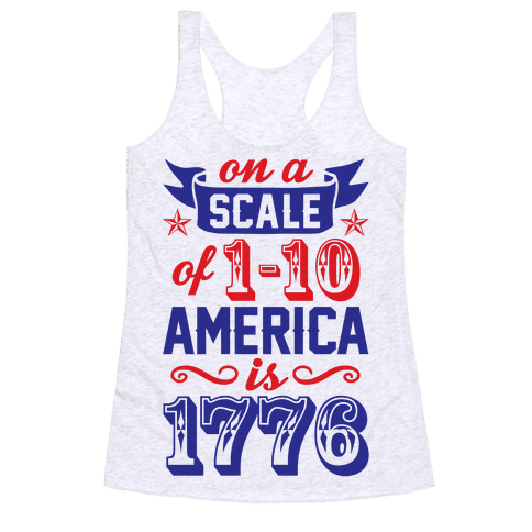 America Is 1776 Racerback Tank Top