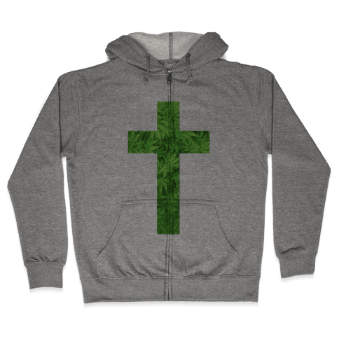 Praise the Green Zip Hoodie