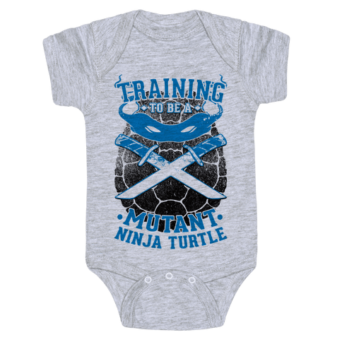 Training To Be A Mutant Ninja Turtle Baby Onesy