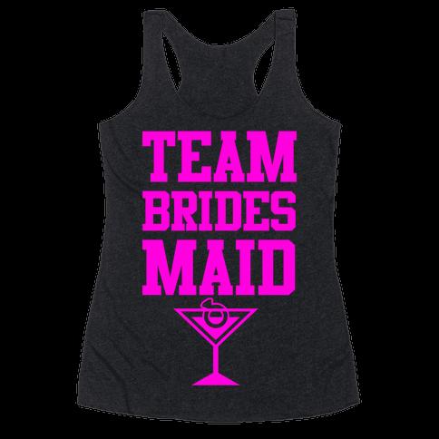Team Bridesmaid Racerback Tank Top
