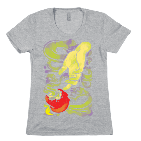Poisoned Apple and Hand Womens T-Shirt