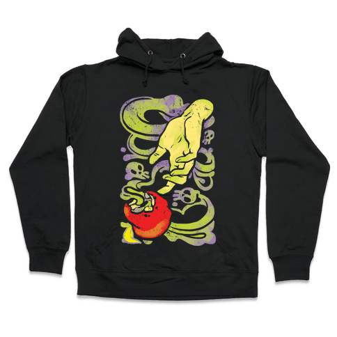 Poisoned Apple and Hand Hooded Sweatshirt