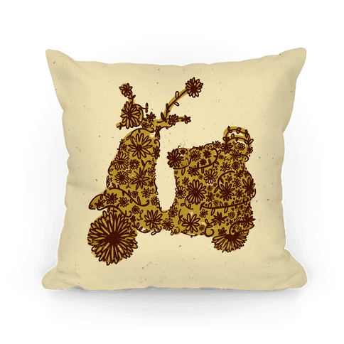 Floral Vespa Pillow