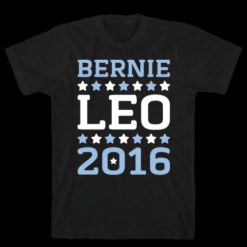 Bernie / Leo 2016 Parody Mens T-Shirt