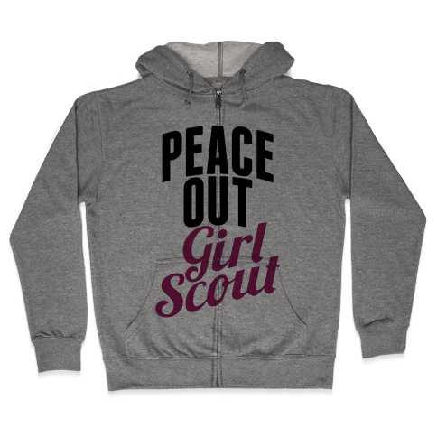 Peace Out, Girl Scout Zip Hoodie