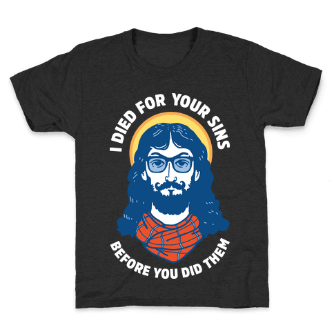 Hipster Jesus Died for Your Sins before You Did Them Kids T-Shirt