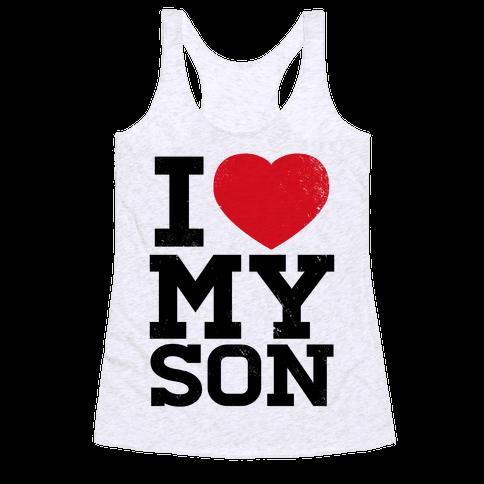 I Heart My Son Racerback Tank Top