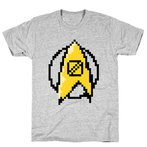 Star Trek: 8 Bit-Science Mens T-Shirt