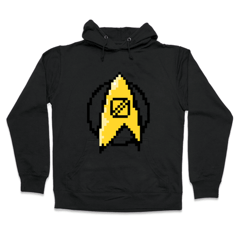 Star Trek: 8 Bit-Science Hooded Sweatshirt