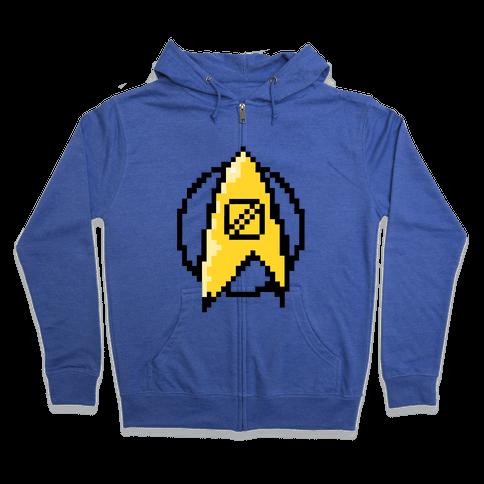 Star Trek: 8 Bit-Science Zip Hoodie