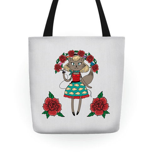 Tattooed Kitty Tote