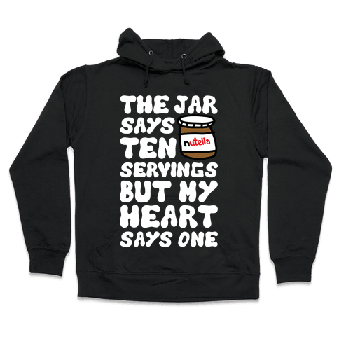 Nutella Servings Of The Heart Hooded Sweatshirt
