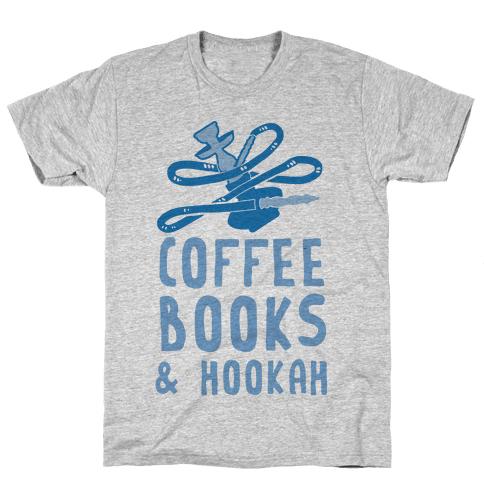 Coffee, Books & Hookah Mens T-Shirt