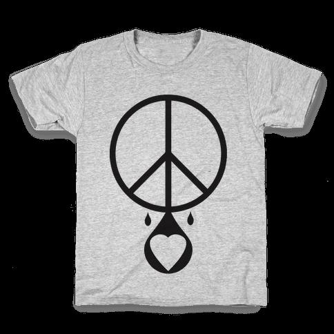 Peace dripping Love Kids T-Shirt