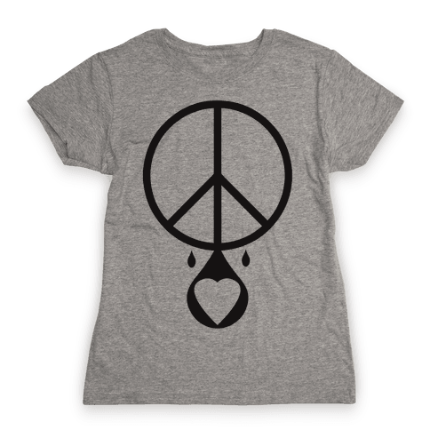 Peace dripping Love Womens T-Shirt