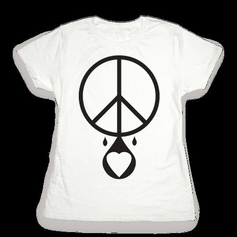 Peace dripping Love Womens T-Shirt
