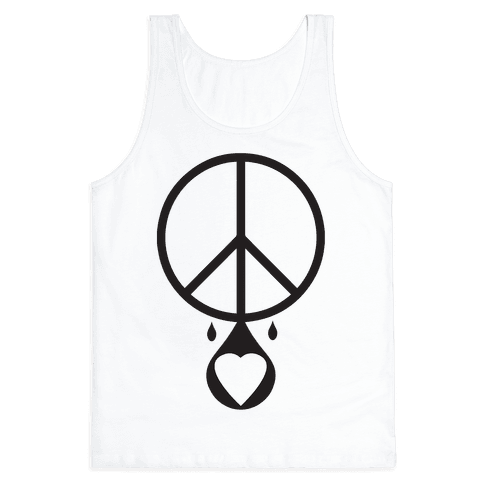 Peace dripping Love Tank Top