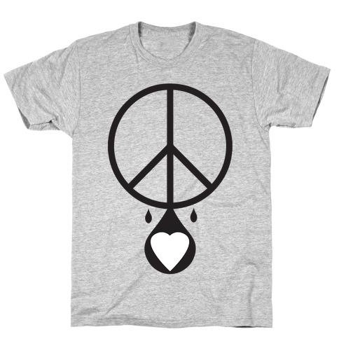 Peace dripping Love T-Shirt