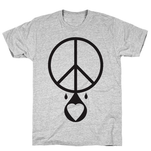 Peace dripping Love Mens T-Shirt