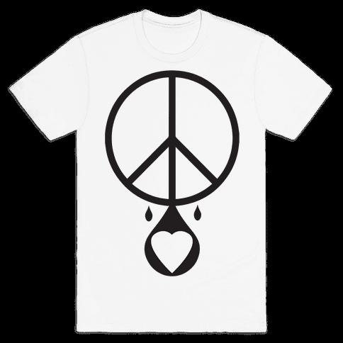 Peace dripping Love Mens T-Shirt