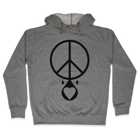 Peace dripping Love Hooded Sweatshirt