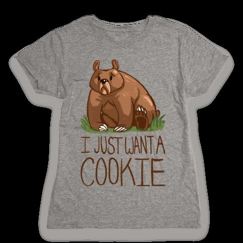 Cookie Bear Womens T-Shirt