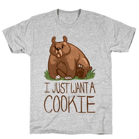 Cookie Bear Mens T-Shirt