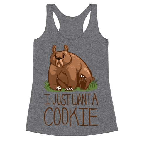 Cookie Bear Racerback Tank Top