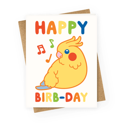Happy Birb-day Greeting Card