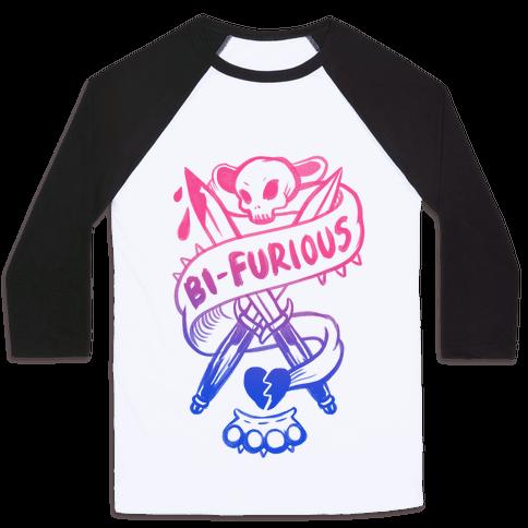 Bi-Furious Baseball Tee
