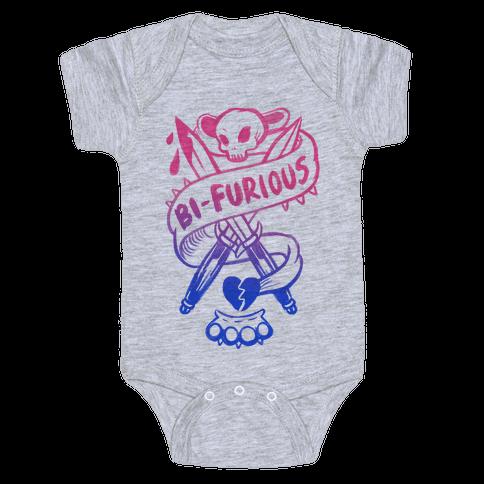 Bi-Furious Baby Onesy