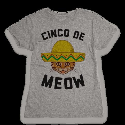 Cinco De Meow Womens T-Shirt