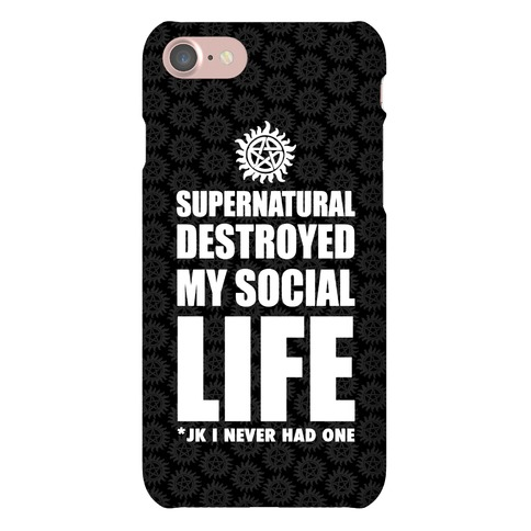 Supernatural Destroyed My Life Phone Case