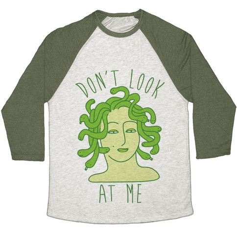 Don't Look At Me Baseball Tee