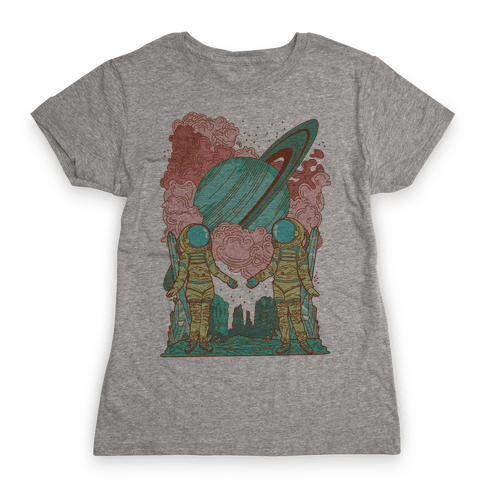 The Lovers in Space Womens T-Shirt