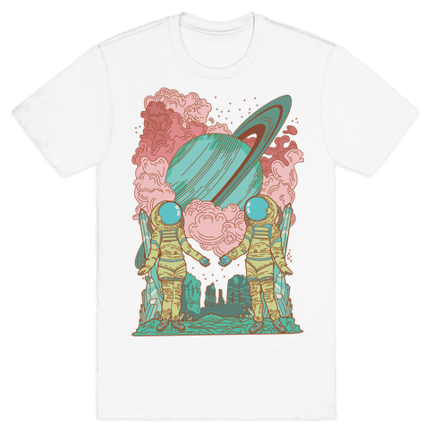The Lovers in Space Mens T-Shirt