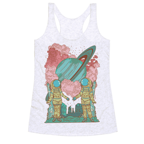 The Lovers in Space Racerback Tank Top
