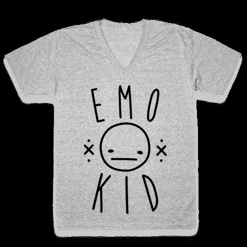 Emo Kid V-Neck Tee Shirt